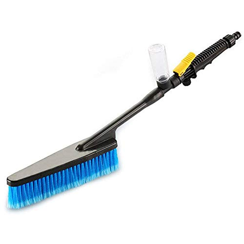 Preisvergleich Produktbild NOBCK mit Schaumflasche und Griff Reinigungsbürste,  Ideal zur Reinigung von Gartenmöbeln und Fahrzeugen,  Waschbürste mit Wasserdurchlauf und Absperrfunktion,  Bürstenkopf Abnehmbar,  Autowaschbürste