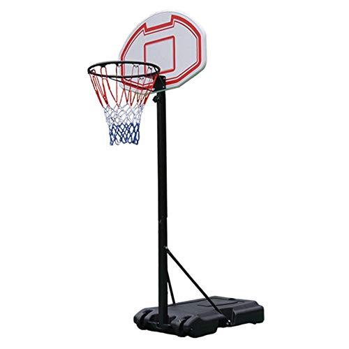 SUON Canasta De Baloncesto Altura Ajustable 155-260cm Juventud Adulto Canasta Aro De Baloncesto Niños Interior Y Exterior con Tablero De PE con 2 Rondas