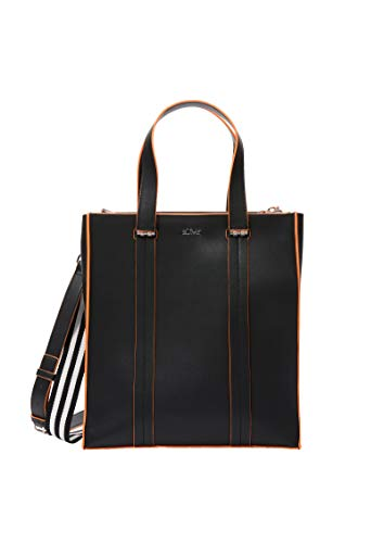 s.Oliver Damen Eleganter Shopper in Paperbag-Optik black 1