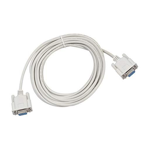 teng hong hui Cable de módem computadora RS232 DB9 Hembra en Serie a RS232 Cable RS232 DB9 Cable de la PC de la extensión del Puerto Femenino, 5m
