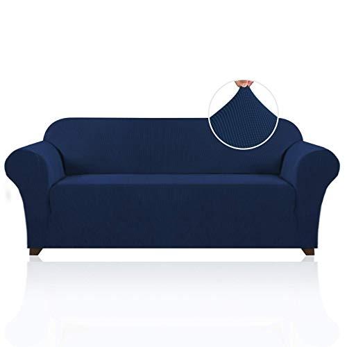 FEIGER Funda de sofá de Lycra Jacquard de Primera Calidad para Sala de Estar, Lavable a máquina, Elegante Funda/Protector de Muebles con cheques pequeños de Spandex