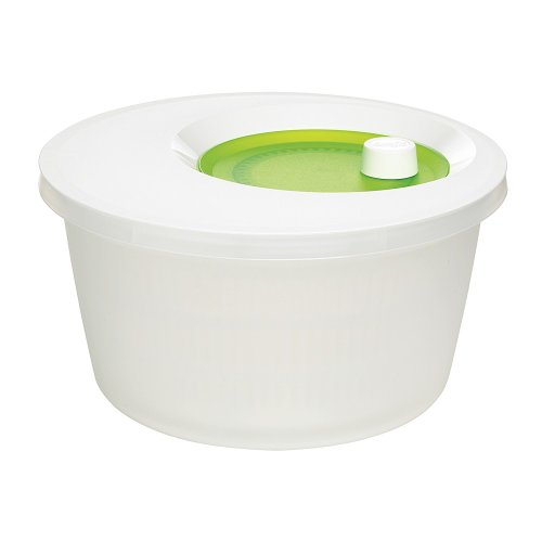 Emsa Basic Centrifuga Insalata 4 L, plastica, Translucente Bianco/Verde