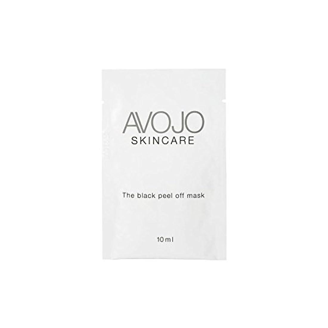 宝石辞任する遊具- ブラックピールオフマスク - 小袋(10ミリリットル×4) x4 - Avojo - The Black Peel Off Mask - Sachet (10ml X 4) (Pack of 4) [並行輸入品]