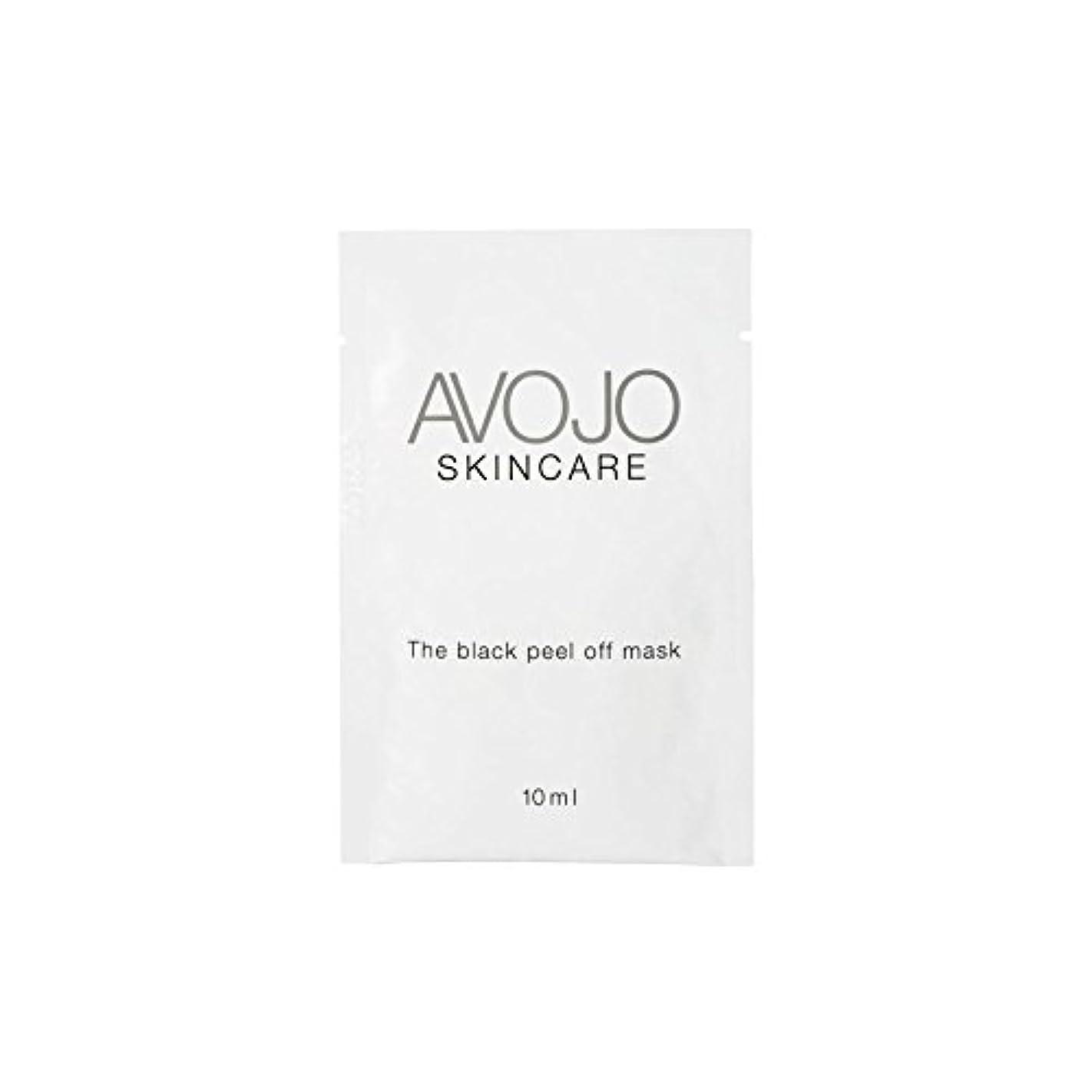 アナロジー名声湿度- ブラックピールオフマスク - 小袋(10ミリリットル×4) x2 - Avojo - The Black Peel Off Mask - Sachet (10ml X 4) (Pack of 2) [並行輸入品]