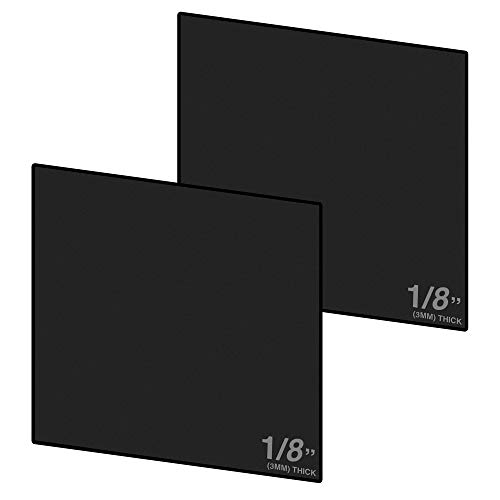 Expanded PVC Sheet – Lightweight Rigid Foam – 3mm (1/8 inch) – 12 x 12 inches – Black – Ideal for Signage, Displays, and Digital/Screen Printing (2 Pack)