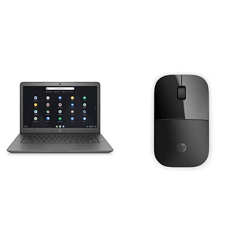 HP Chromebook 14-db0003na 14 Inch Laptop with HP Z3700 Black Wireless Mouse