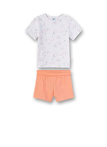 Sanetta Baby-Mädchen Pyjama kurz Zweiteiliger Schlafanzug, Weiß (weiß 10), 80 (Herstellergröße:080)