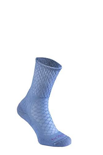 Bridgedale Leichte Damen-Socken aus Merinowolle, Größe M, puderblau