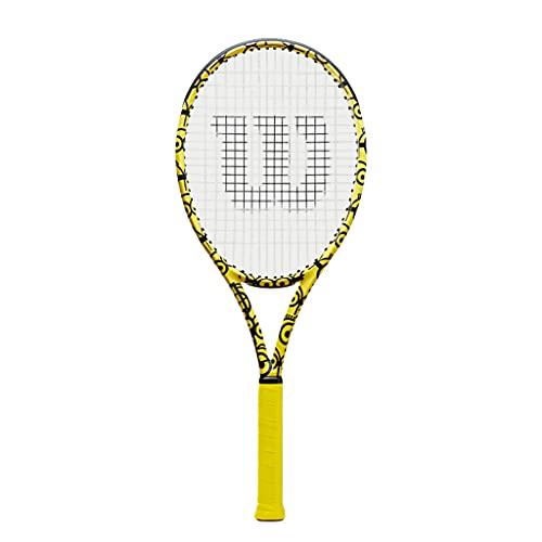 Racchetta da tennis Full Carbon Professionale Racchetta A Tutto Tondo per Studenti Universitari Adulti (Color : Yellow, Size : 27in)