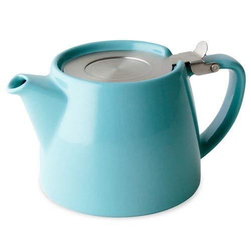 Forlife Stump - Tetera con infusor de Hojas Sueltas, 18 onzas, Color Turquesa más una Muestra de té de Hojas Sueltas Mystic Brew's