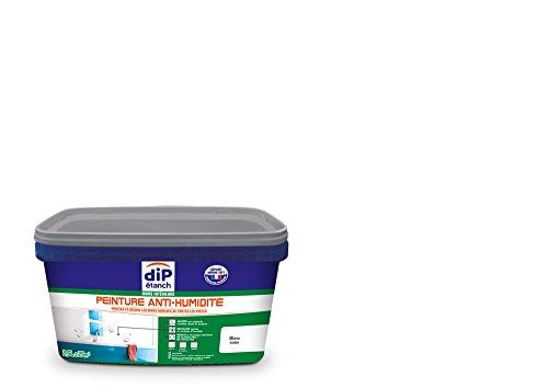 Peinture Anti-Humidité, Dip étanch - Blanc Satin, 2,5L