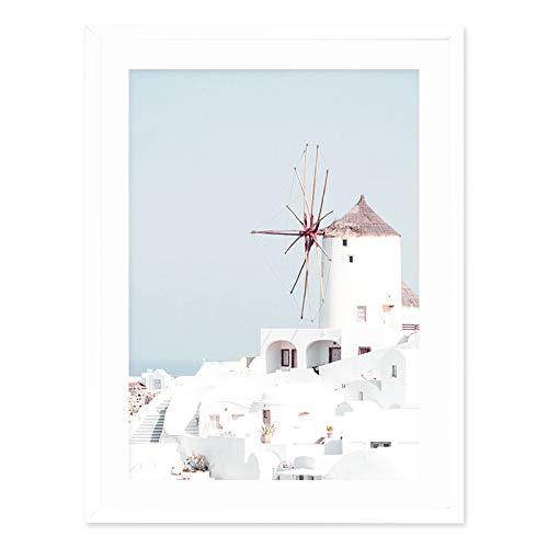 Paisaje mediterráneo imagen de arte de la pared pintura en lienzo galería carteles e impresiones sala de estar interior sin marco pintura decorativa en lienzo A29 40x60cm