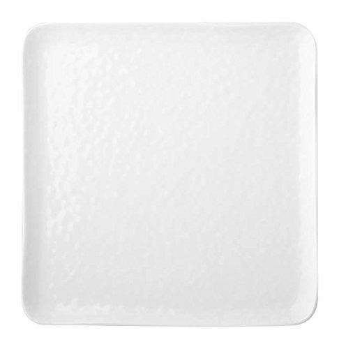 HOTELWARE Diamond Plat carré, 21 cm, Porcelaine, Blanc
