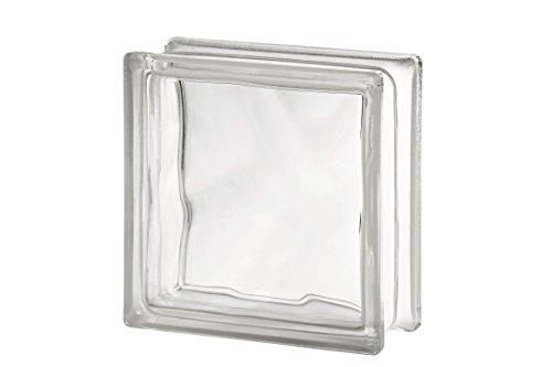 Preisvergleich Produktbild 10er Pack - Glasbaustein Wolke weiß 19x19 cm