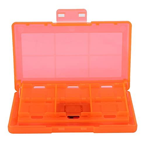 Emoshayoga Caja de Almacenamiento Protectora rígida 12 en 1 para NintendoSwitch(Orange)