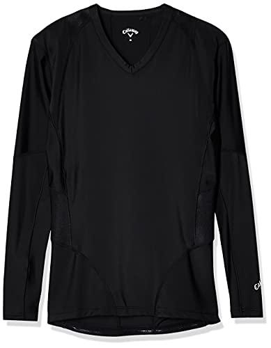 [キャロウェイ] [メンズ] 速乾 長袖 Vネックシャツ (トレーニングウェアシリーズ) / 241-9932501 / ゴルフ インナー 010_ブラック 日本 L (日本サイズL相当)