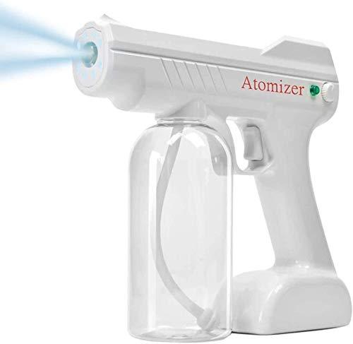 MUZIDP Nano Electric Ulv Spray Pistol Fogger, Mini Máquina de desinfección por pulverizador Portátil, Mistola de Agua Pistola de vapor Máquina de pulverización con luz azul para el hogar, interior, al
