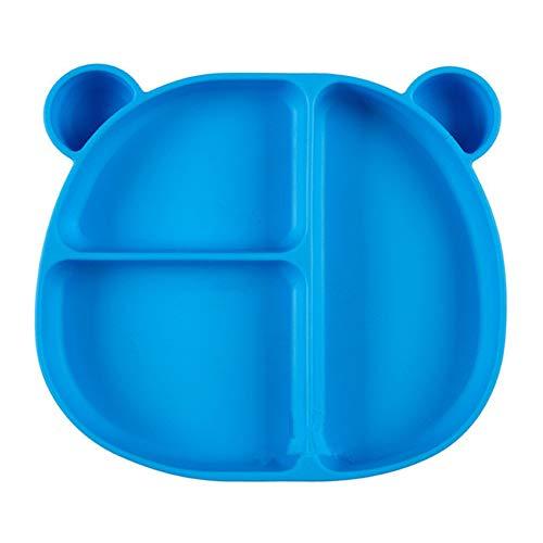 3PCS 100% siliconenplaten voor peuters, verdeelde babyborden, niet-giftig, BPA-vrij, vaatwasser- / magnetronbestendig, skidproof en onbreekbaar, siliconen kinderplaten met verdelers