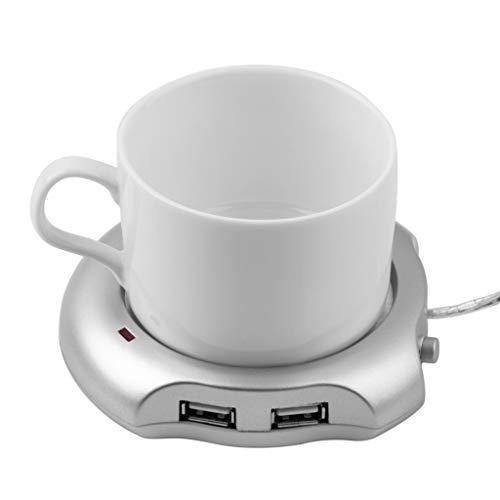 Lumumi USB Tea Coffee Cup Mug Warmer Heater Pad With 4 Port USB Hub -  Crolomi, Crolomi-888
