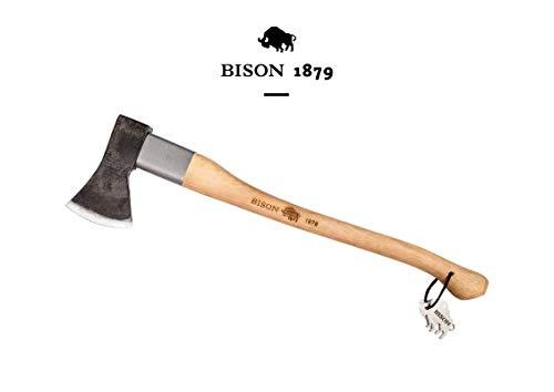 Bison 1879 //Universalaxt mit Stielschutzhülse 1250 g, 700 mm Made in Germany, Natur