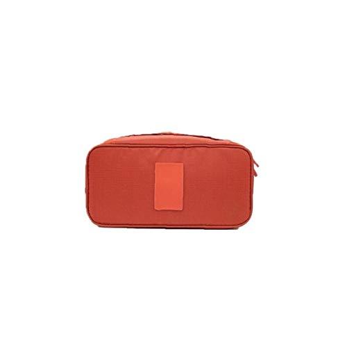 Emballage Organisateur Bra Sous-vêtements Sac De Rangement Lingerie Voyage Pouch Sac De Toilette Organisateur Cosmétiques Sac De Maquillage Bagagerie Cas (orange)