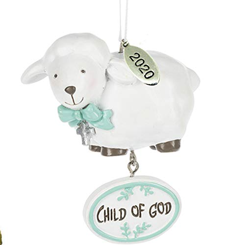 Twisted Anchor Trading Co Baptism Ornament 2020 - Baptism Gifts - Baptism Christmas Ornament - Child of God Lamb - Comes in a Gift Box so It's Ready for Giving