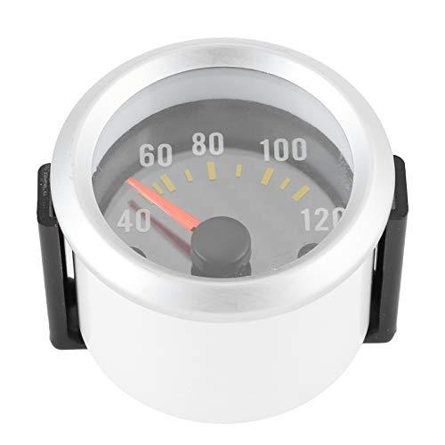 Akozon Wassertemperaturmesser, 40-120 Celsius Zeiger & 52mm Weiß Plastik Universal-Messuhr Änderungszubehör Fit für PKW