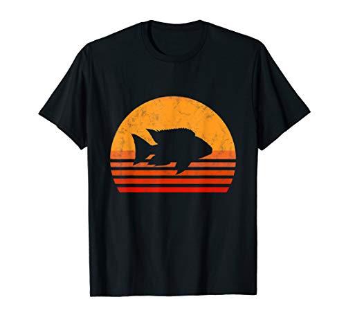 Vintage Buntbarsch Shirt Cichlid Zierfisch Aquarium Geschenk