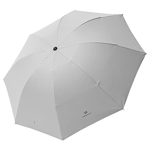 8 óseo paraguas automático tres barrera plegable paraguas sol-Blanco crema_28cm