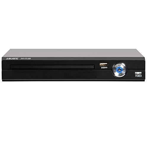 Majestic DVX 475 USB - Lettore DVD/MPEG4 con ingresso USB, presa Euro SCART, telecomando, Nero