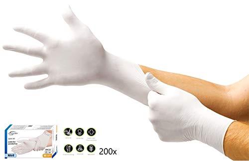 HYGONORM 26110 una sola mano. Talla L, 200 unidades, nitrilo.