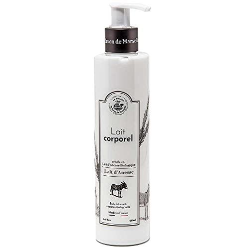 Savon de Marseille - Organic Donkey Milk Body Lotion for Dry Skin - Anti Aging Moisturiser with Organic Argan Oil - 250ml