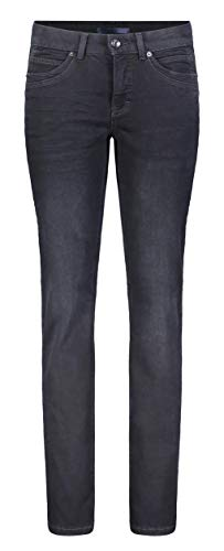 MAC Jeans Damen Angela New Straight Jeans, Blau (Dark wash Blue Black D869), W32/L34 (Herstellergröße:42/34)