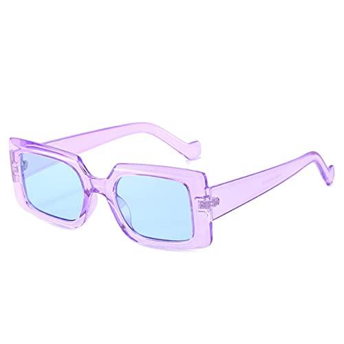 Occhiali Da Sole Moda Piccoli Occhiali Da Sole Quadrati Da Sole Donne Vintage Occhiali Da Sole Uomini Punk Sunglass Uv400-007