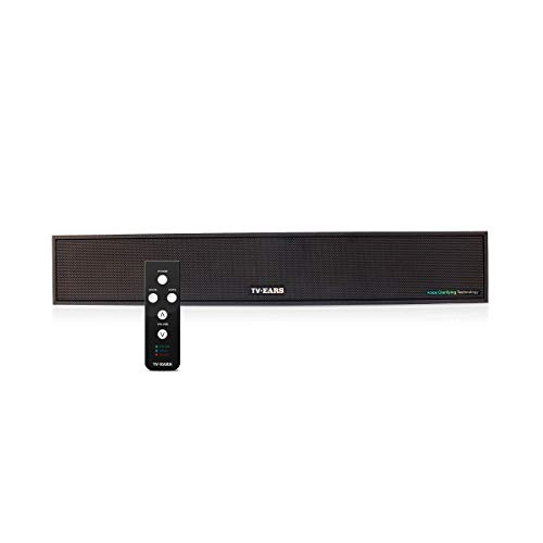 TV Ears Voice Clarifying TV Sound Bar – TV Speaker System for Great Sound and Hearing TV Dialog More Clearly – Compatible with Any Television – Clarifying Audio System for Hearing Impaired TV Viewers