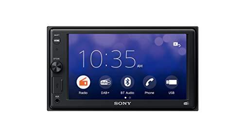 """Sony XAV-1550ANT - SintoMonitor 2DIN, Ricezione DAB/DAB+/FM, Antenna DAB Inclusa, Display da 6.2"""", WebLink 2.0, Controllo Vocale, Bluetooth, Microfono Esterno Incluso, 4x55W, USB iPhone/iPod"""