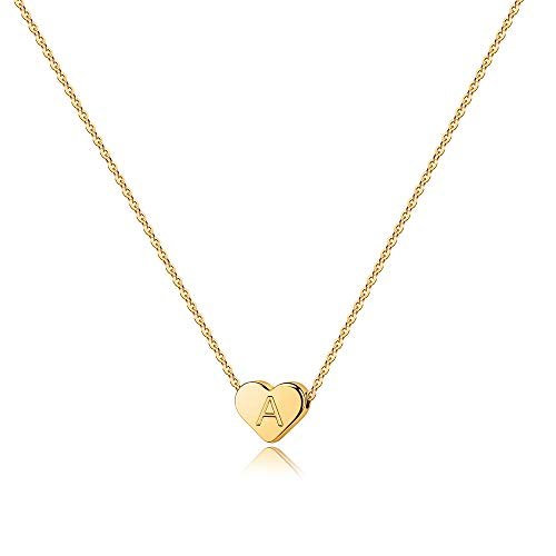 Heart Initial Necklace for Girls Kids - Initial Necklaces for Teen Girls Heart Initial A Necklaces for Women Girls Jewelry Tiny Initial Necklace for Girls Kids Jewelry Heart Initial Necklace for Kids