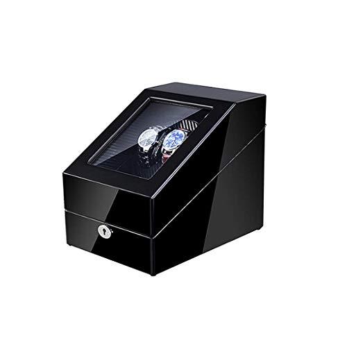 Sunmong Scatola Carica Orologi Automatica, 5 modalità di Rotazione, Guscio in Legno con Motore Silenzioso, Scatola espositore per 5 Orologi (Colore : A102)