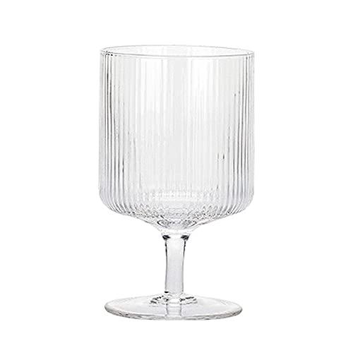 OMIDM Copa de Vidrio Conjunto de 2 Piezas de Vidrio de Borde Recto 10oz Vidrio Libre de Plomo Adecuado para Vidrio de Vidrio Rojo Bebida de Vidrio Conjunto de Bebidas para el hogar Taza de Agua