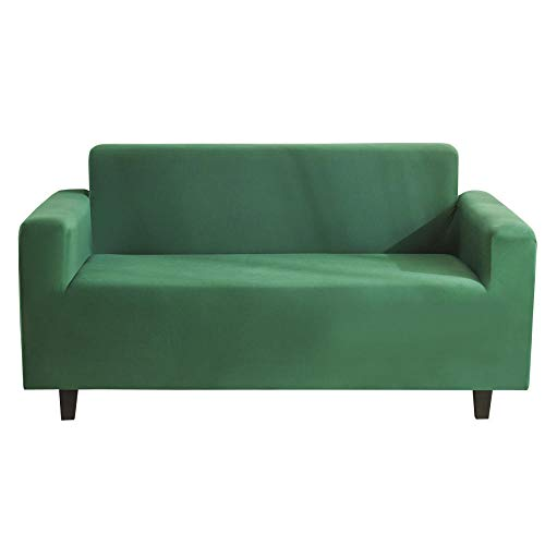 HXTSWGS elástica Funda de sofá,Funda elástica para sofá para Silla - Funda de sofá Suave Antideslizante de Spandex, Protector Lavable para Muebles-Verde Militar_190-230cm