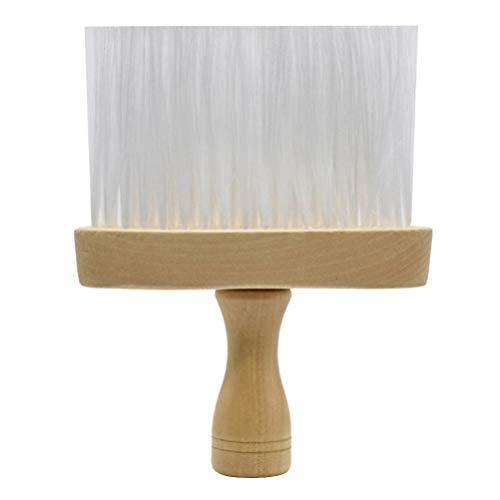 Solustre Barber Neck Duster Brush Brosse de Coiffure Barber Hairstyling Salon Stylist Outil de Nettoyage pour Salon de Coiffure (Blanc)