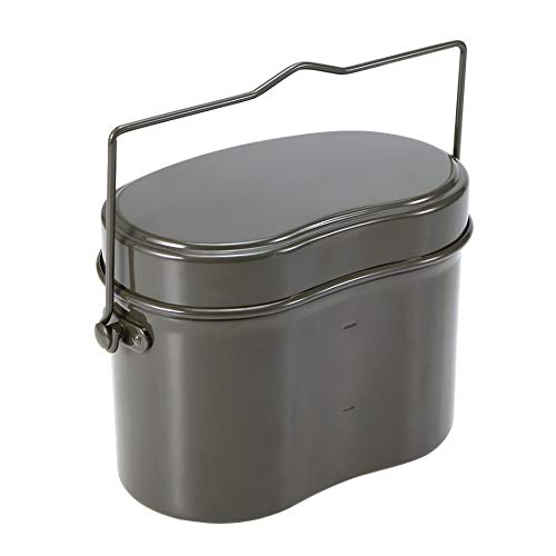 En Plein Air Mess Tin Set Déjeuner Militaire Boîte Randonnée Camping Escalade Déjeuner Case Pot D'extérieur Bowl Table Casseroles Survie Bento Box 1.9L (Color : 1.9L)