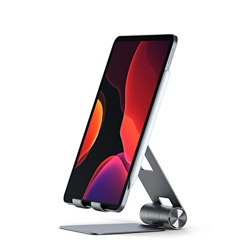 Satechi R1 Aluminum Multi-Angle Foldable Tablet Stand - Compatible with 2020 iPad Pro, iPhone 12 Max Pro/12 Mini/12, SE, XS Max/XS, Samsung S20 and More