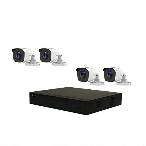 Kit de sistema de CCTV HILOOK de 2 MP (modelo del kit: TK-4142BH-MM) incluye 1 TB HDD con cable 4 cámaras Bullet color blanco