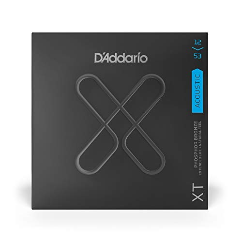 D'Addario XT Phosphor Bronze Acoustic Guitar Strings, Light, 12-53