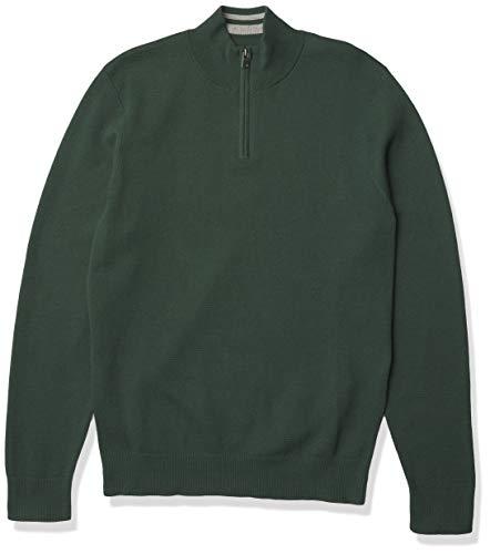 Dockers Men's Long Sleeve Quarter Zip Sweater, Garden Topiary Acrylic, XX-Large