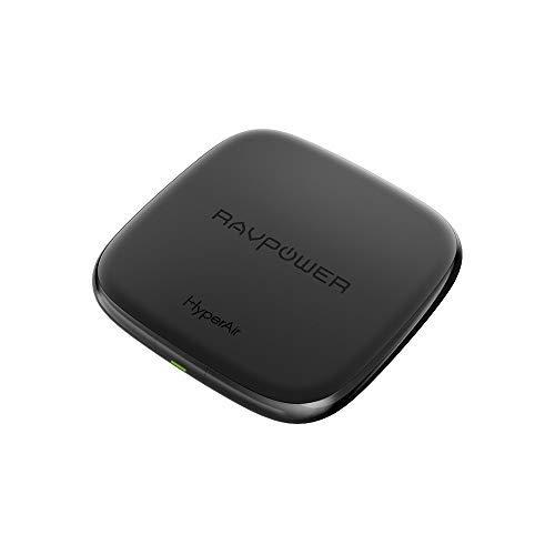 RAVPOWER Cargador Inalámbrico de 7.5W de Carga Rápida Base de Carga Inalámbrica de 10W Compatible con Galaxy S8/ S8 +/S7/...