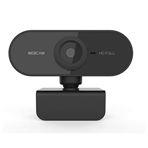 Webcam 1080p Full HD 1080P Cámara Web de la computadora de la computadora de la cámara Web con micrófono Cámaras giratorias para la transmisión en Vivo Conferencia de videollamadas (Color : Black)