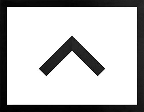MDF-Bilderrahmen Morena 55 x 84 cm. Schwarz Matt ohne Verglasung Aber mit weißer Rückwand - WhiteFix. Posterrahmen in vielen Farben und Größen. Anfertigung nach Maß möglich.