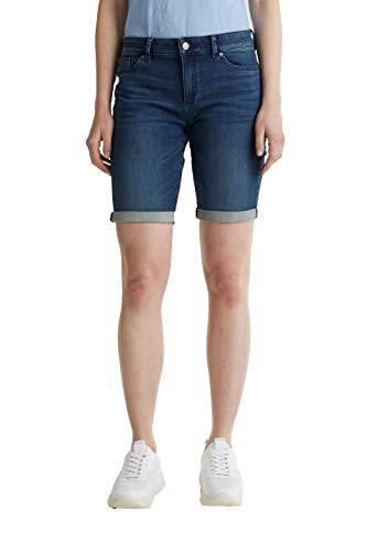 ESPRIT Damen 040EE1C307 Jeans-Shorts, 901/BLUE Dark WASH, 32